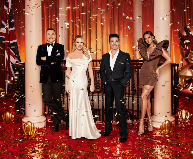 Amanda Holden with fellow Britain's Got Talent judges David Walliams, Simon Cowell and Alesha Dixon