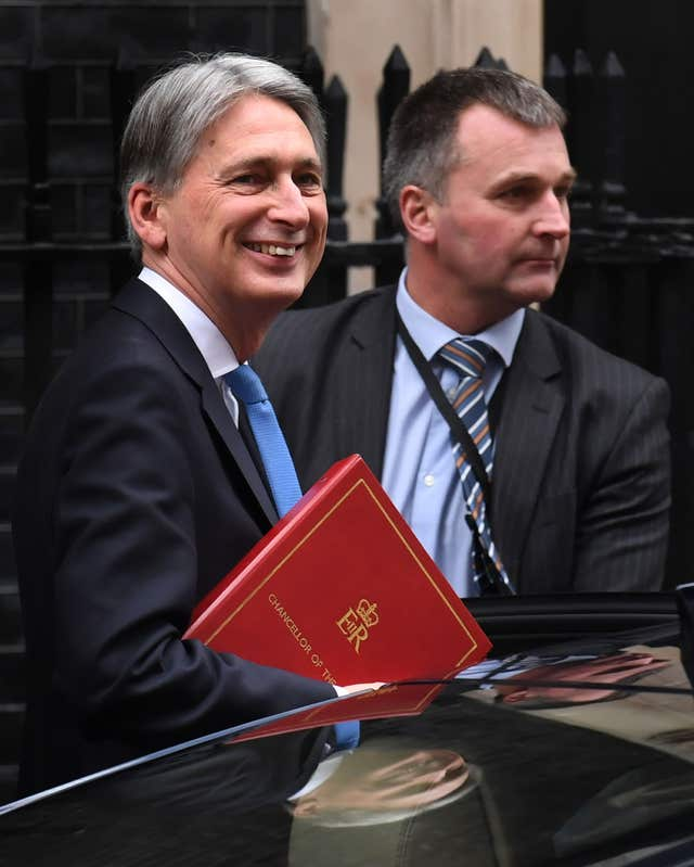 Mr Hammond said he was 'positively Tigger-like' (Stefan Rousseau/PA)