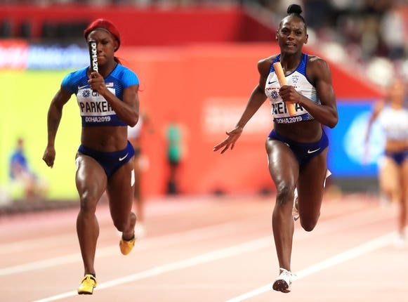 Daryll Neita held off the United States to ensure silver for Great Britain