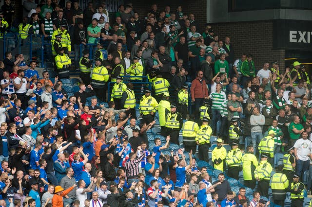 A capacity 50,000-strong crowd was expected at Ibrox on Sunday