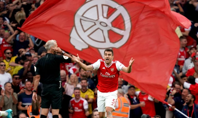 Sokratis Papastathopoulos has been left at home after playing every minute of Arsenal's five Premier League games this season