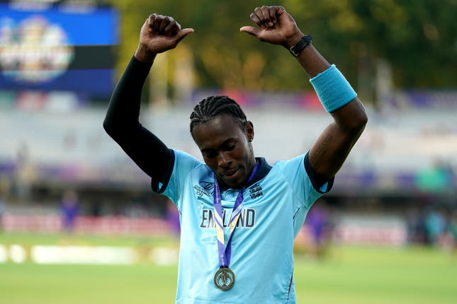 Jofra Archer was England's leading wicket-taker in their triumphant World Cup campaign (John Walton/PA)