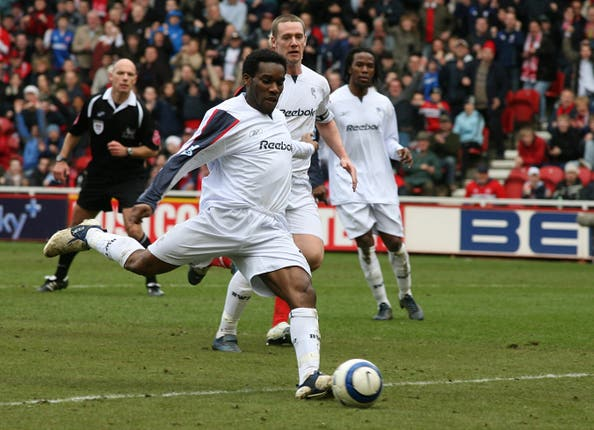 Jay-Jay Okocha helped Bolton to the Europa League