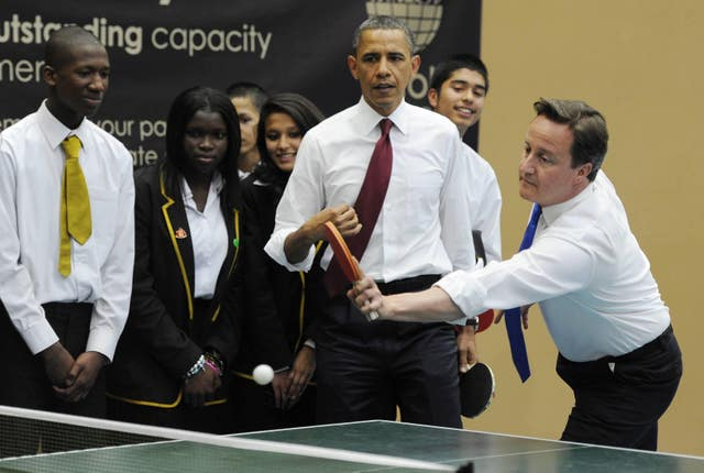 The table tennis match