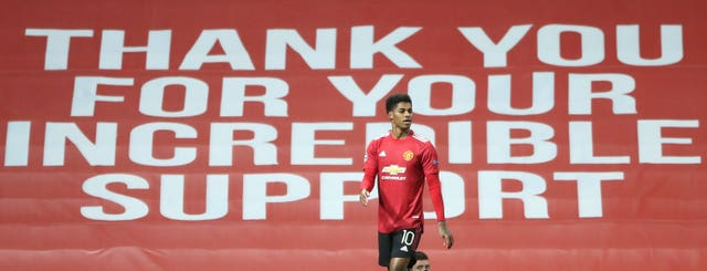 Marcus Rashford made a difference on and off the pitch during a challenging 2020. The Manchester United forward, pictured on the day he hit a Champions League hat-trick against RB Leipzig, received widespread praise for his free school meals campaign. The 22-year-old's extraordinary efforts also led to him being made an MBE in the Queen's Birthday Honours list