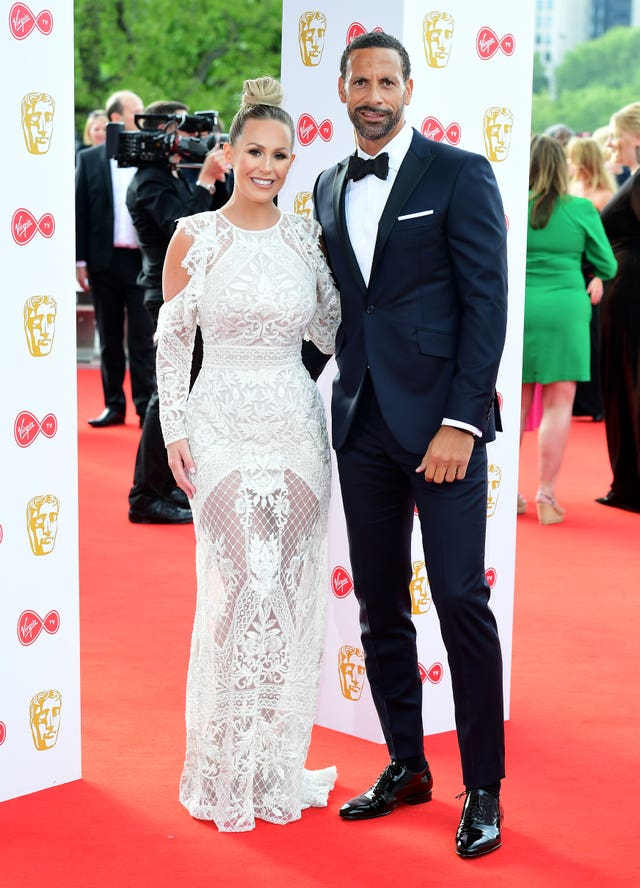 Rio Ferdinand and Kate Wright