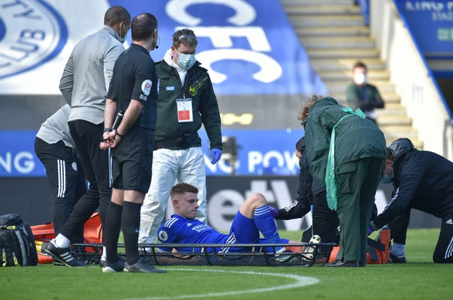 Harvey Barnes is set for around six weeks out