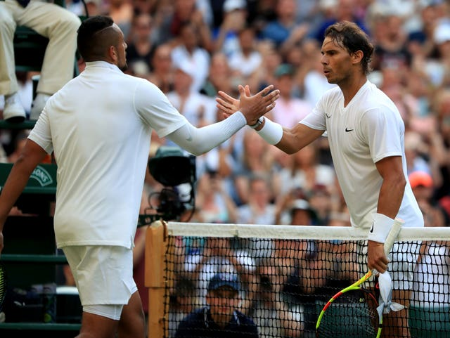 Rafael Nadal faced Nick Kyrgios at Wimbledon last year