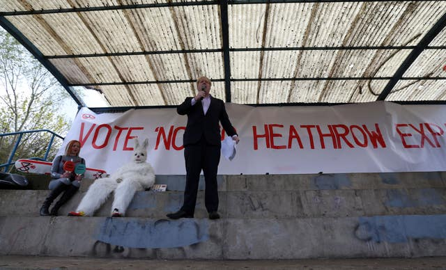 Boris Johnson has long been a vocal opponent of Heathrow expansion (Steve Parsons/PA)