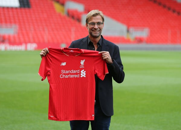 Jurgen Klopp was appointed Liverpool manager in October 2015 (Peter Byrne/PA)