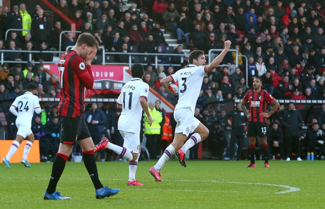 Marcos Alonso hit a late goal to deny Bournemouth a much-needed win