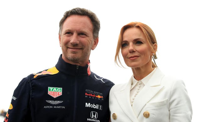 Christian and Geri Horner during the British Grand Prix at Silverstone