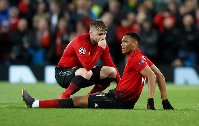 Anthony Martial (right) looks unlikely to make it