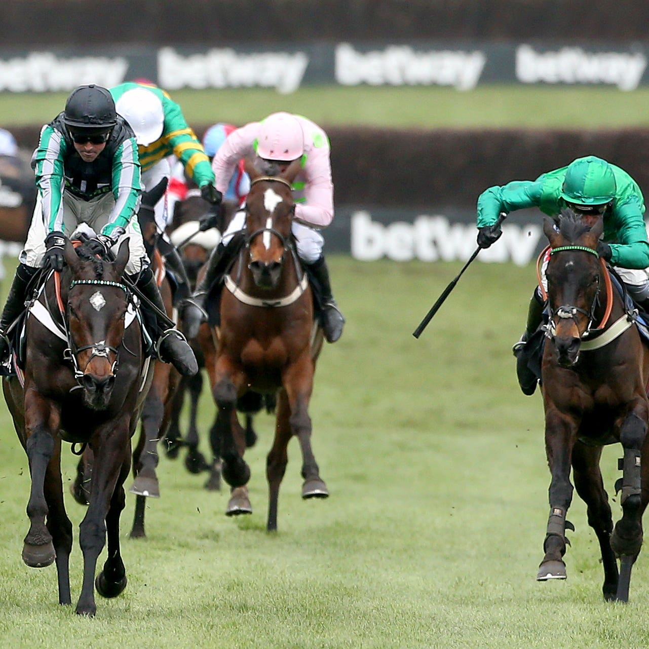 Sceau Royal (right) ran a huge race behind Altior at Cheltenham