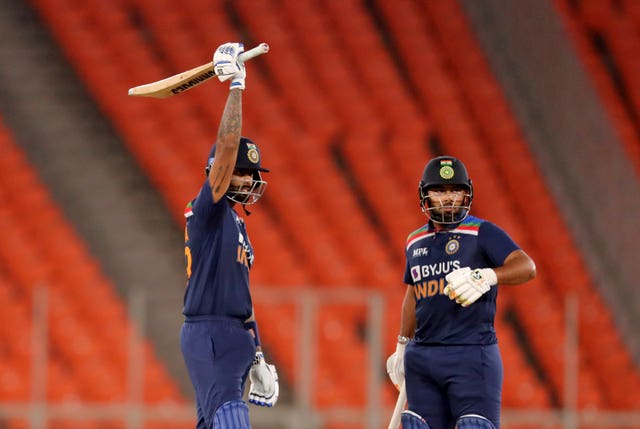 Suryakumar Yadav, left, impressed for India