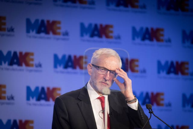 Labour leader Jeremy Corbyn claimed Theresa May's Brexit tactics were an attempt to 'blackmail' MPs into supporting her deal (Stefan Rousseau/PA)