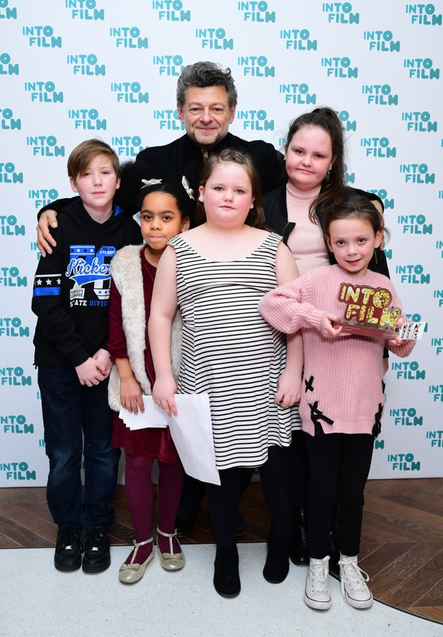 Andy Serkis presents the Rainbow Collective with the audience choice award