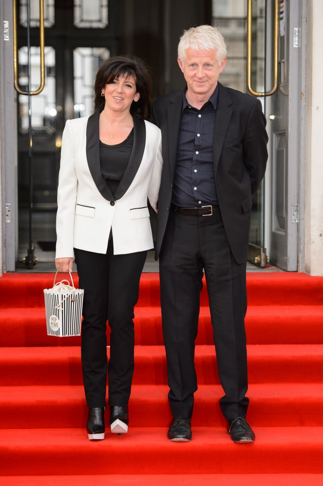 Richard Curtis and his wife Emma Freud