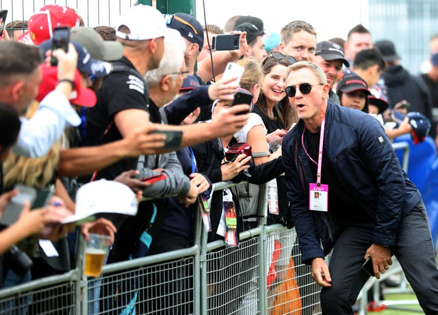 Daniel Craig attending the British Grand Prix