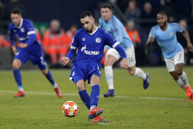 Nabil Bentaleb was on the spot for Schalke