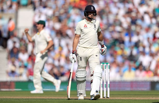 Joe Root was undone by an innocuous delivery from Nathan Lyon