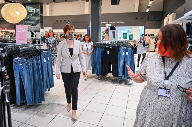 Nicola Sturgeon visit to retail park