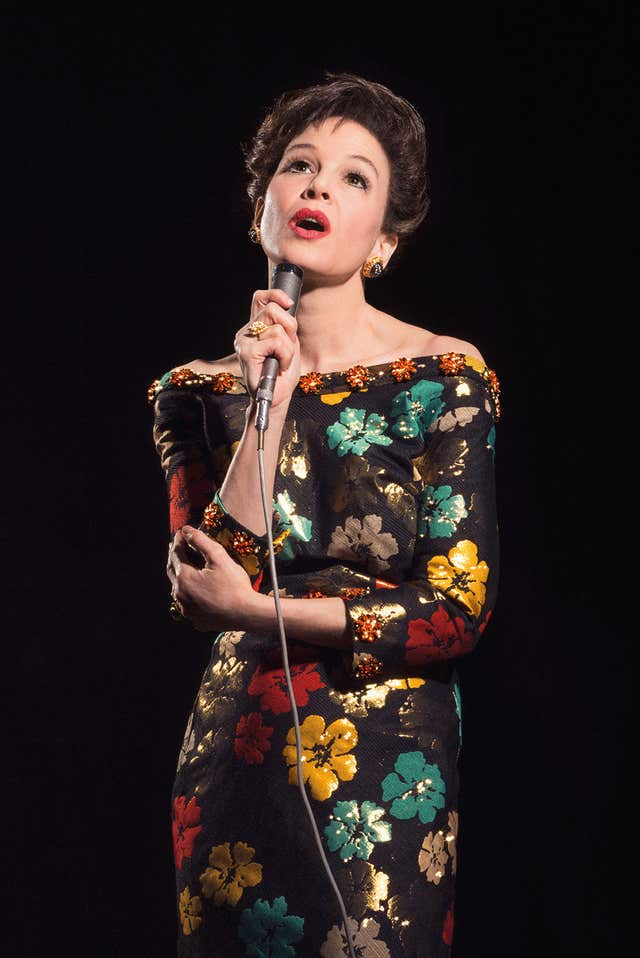 Renee Zellweger in character as Judy Garland in a new biopic