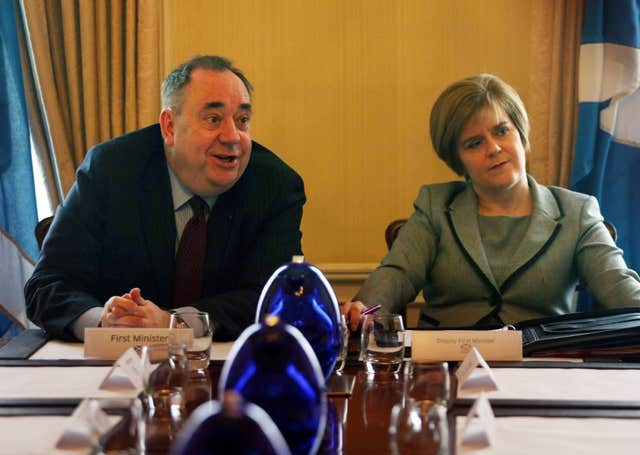 Former first minister Alex Salmond with his then deputy Nicola Sturgeon