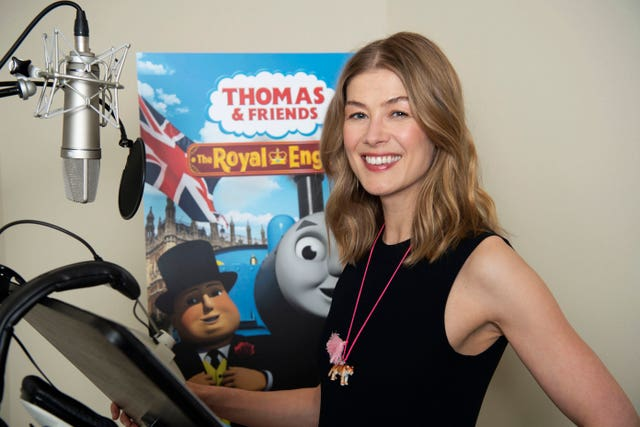 Rosamund Pike recording the new animated special