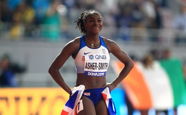 Asher-Smith will hope to go one better in the 200m in Doha
