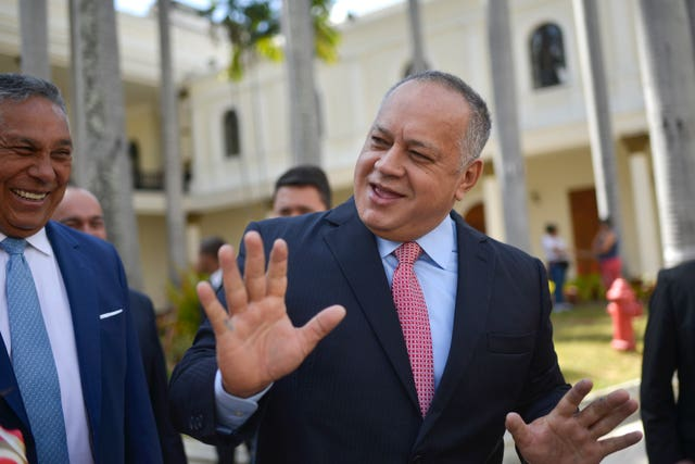 Diosdado Cabello, president of the National Constituent Assembly, has also tested positive