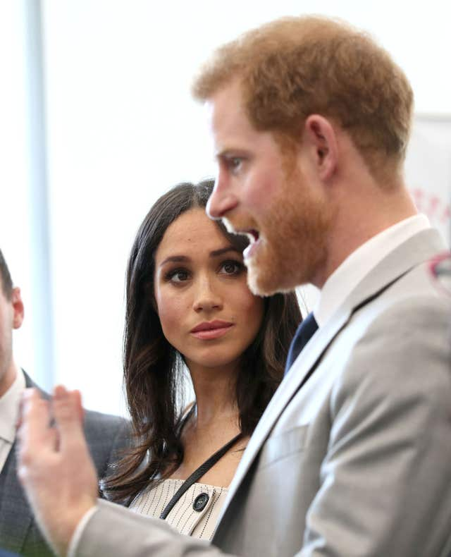 Ms Markle and Harry during the visit (Yui Mok/PA)