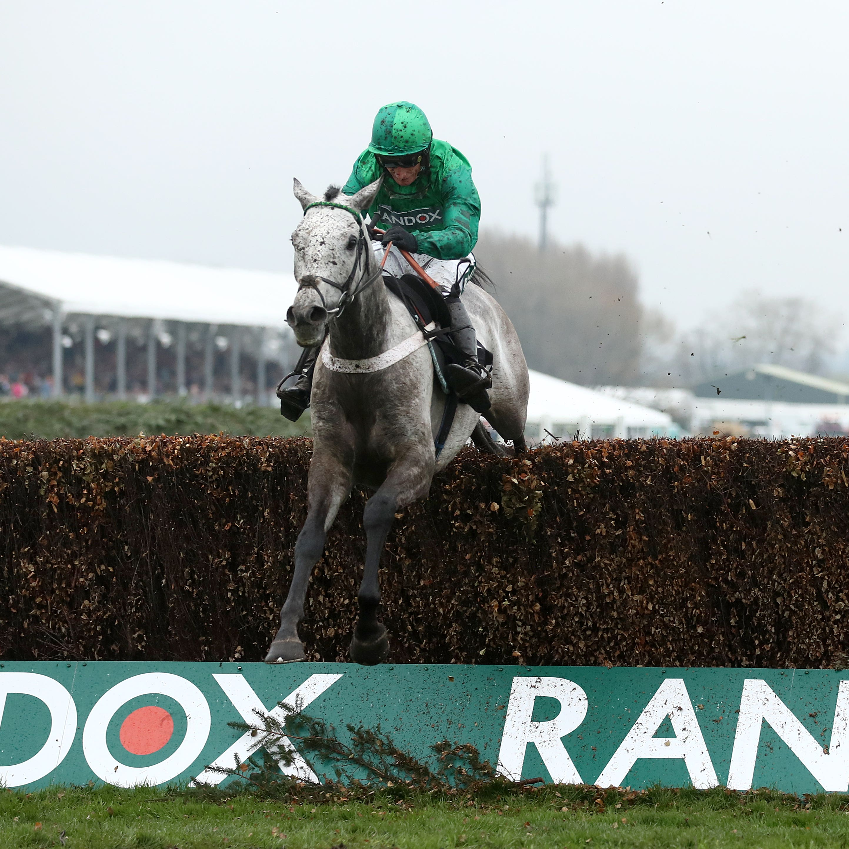 Terrefort (left) on his way to winning at Aintree