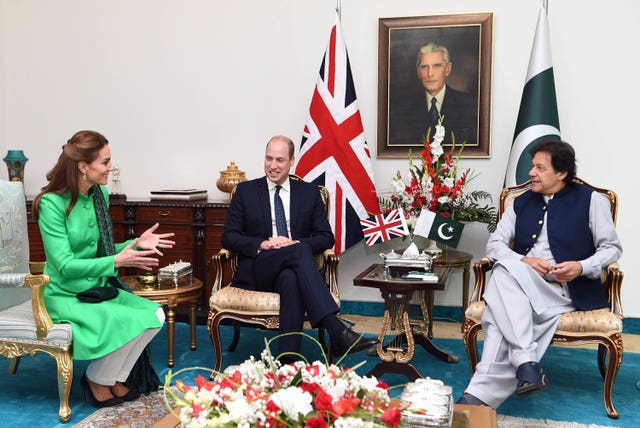Royal visit to Pakistan in pictures