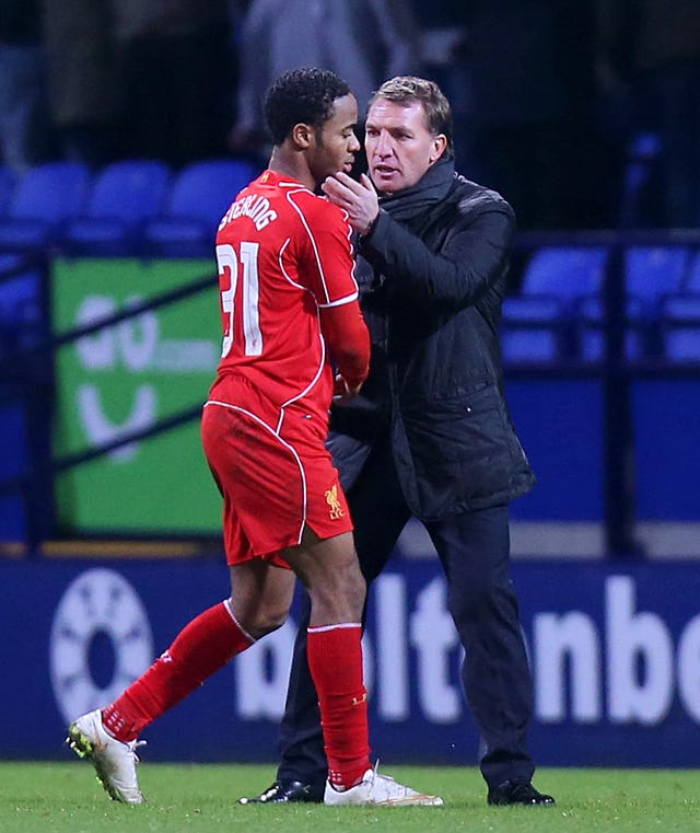 Brendan Rodgers famously berated Raheem Sterling in a scene from 'Being: Liverpool'