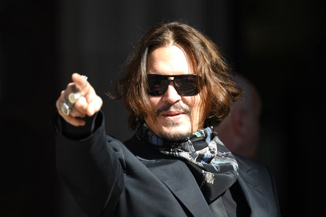 Actor Johnny Depp at the High Court in London