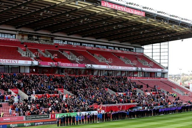 Stoke fans pay their respects