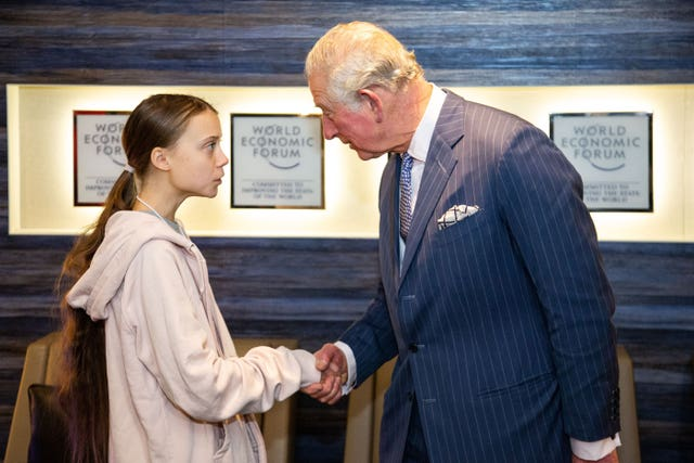Greta Thunberg met the Prince of Wales in Davos