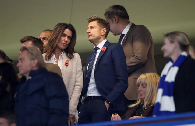 Crystal Palace Chairman Steve Parish and TV presenter Susanna Reid