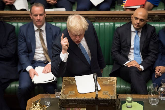 Boris Johnson at the despatch box