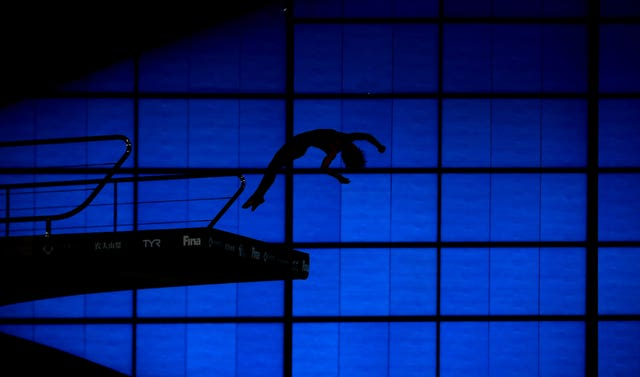 A diver leaps from the 10m platform during day two of the Diving World Series at London Aquatics Centre in May. Great Britain finished the event second in the medal table behind China after winning three golds, a silver, and two bronzes. Tom Daley helped secure two of the golds, winning the synchronised 10m platform with Matty Lee and the synchronised 3m springboard with Grace Reid