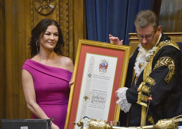 Catherine Zeta-Jones receives Freedom of the City of Swansea