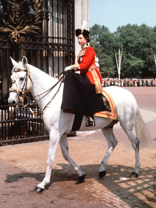 The Queen at Trooping the Colour