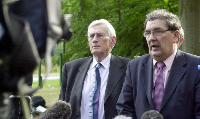 Seamus Mallon (left) and John Hume