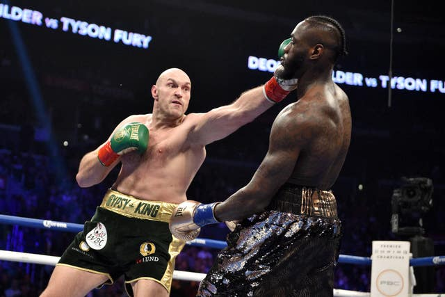 Tyson Fury took the challenge to Deontay Wilder