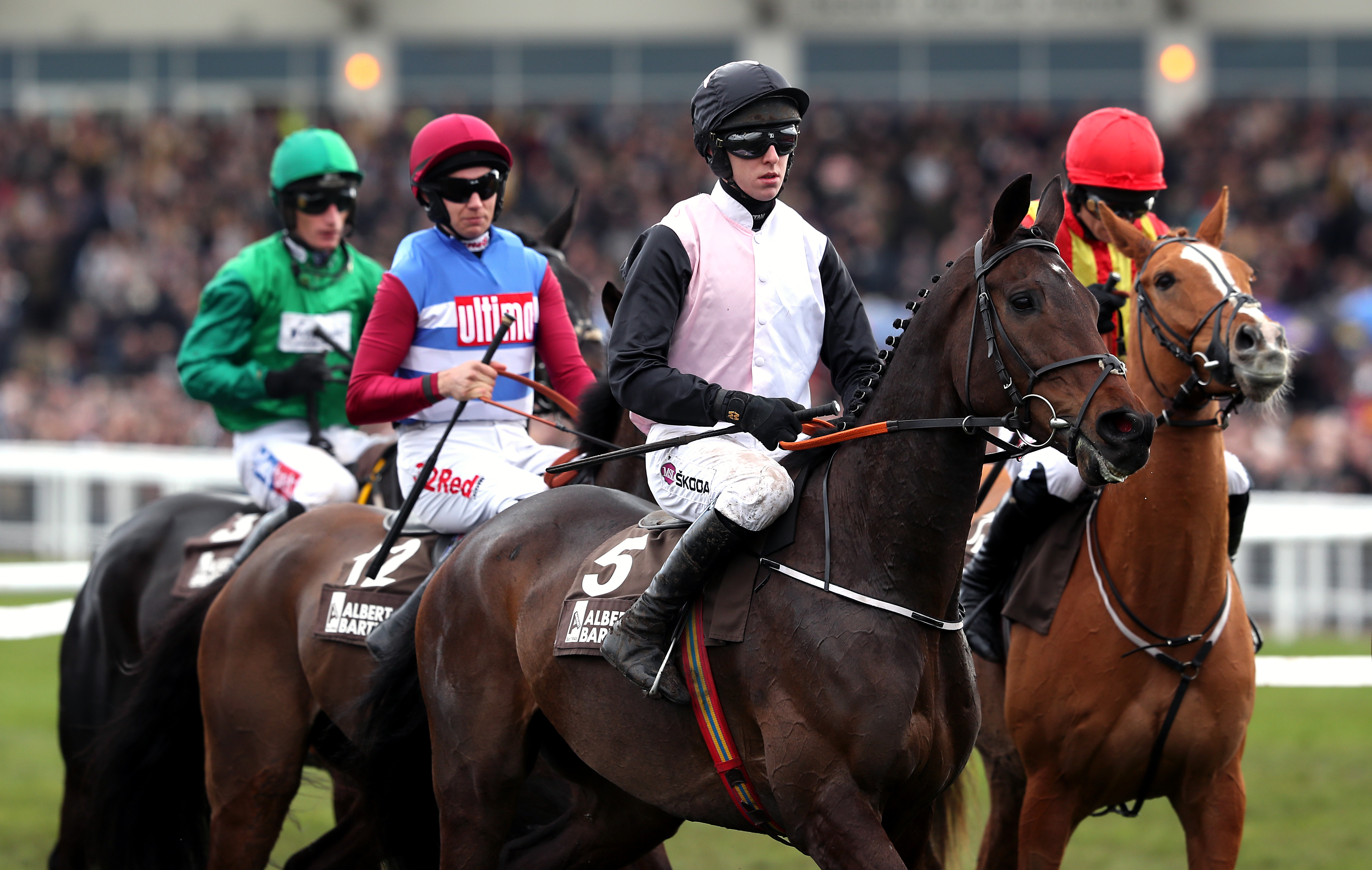 Chris's Dream (middle) is another of De Bromhead's big hopes at the Dublin Racing Festival