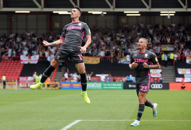 Pablo Hernandez reacts after opening the scoring as Leeds start their campaign with a 3-1 win at Bristol City