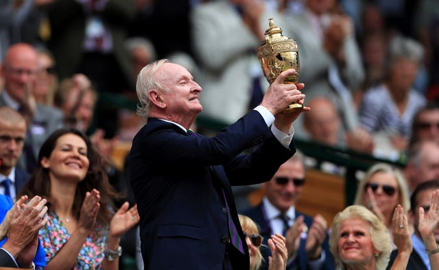 Tennis great Rod Laver
