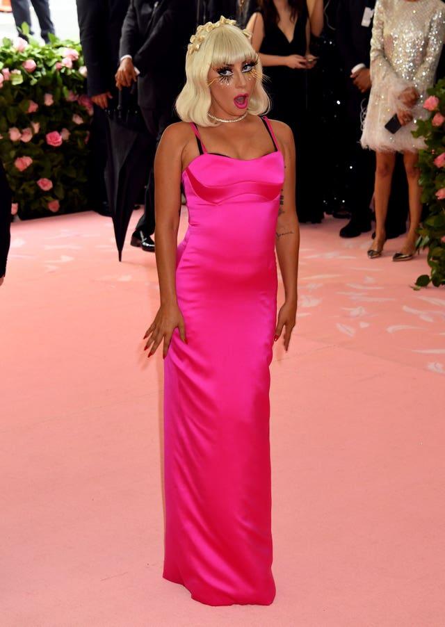 b5eaf635fea One of Lady Gaga s outfits was a pink column dress (Jennifer Graylock PA)
