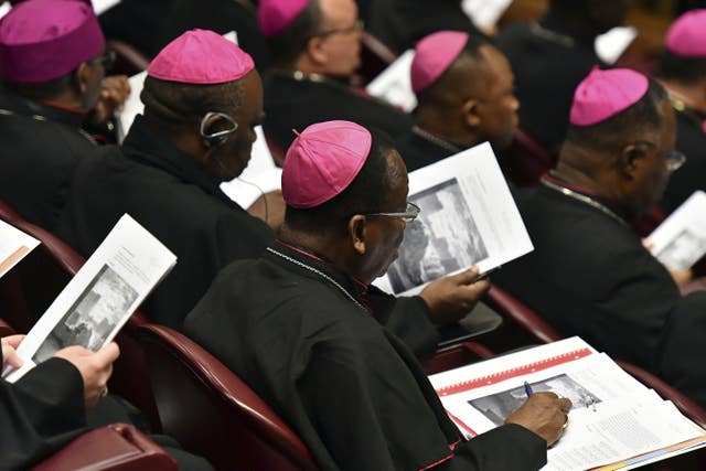 Bishops attend the opening of a sex abuse prevention summit at the Vatican